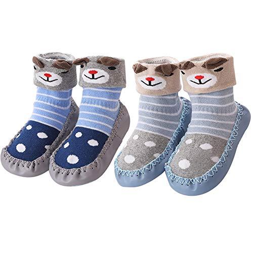 Zhenghewyh Calcetines para Bebés Niña Niño Anti Deslizante Zapatillas Primera Infancia XS: 0-10...