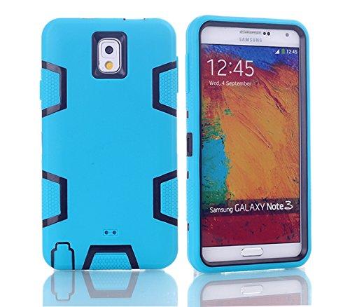 Samsung Galaxy Note 3 N9000 Hülle, Forhouse Ultra Slim [TPU + PC][Dual Layer][Roboter-Muster] Schutzhülle [Anti-Rutsch-] Shock-Absorption-Abdeckung für Samsung Galaxy Note 3 N9000 (Blau + Schwarz) (Galaxy Note 3 Fall Roboter)