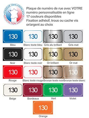 Plaque de numéro de rue à personnaliser PVC | Numéro de maison | Plaque gravée 15 x 10 cm | 17 couleurs disponibles