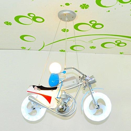 Huahua @ - Motorrad Kronleuchter Cartoon Beleuchtung Junge Schlafzimmerlampe Individualität Kinderzimmer Lampe kreative LED-Licht