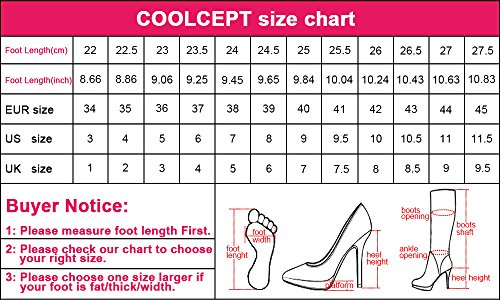 COOLCEPT Damen Mode Schnurung Sandalen Cut Out Sommer Stiefel Peep Toe Keilabsatz Stretch Schuhe Zipper Braun