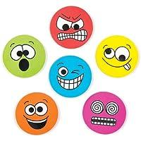 Baker Ross Radiergummis Lustige Gesichter für Kinder als Kleine Überraschung Oder als Preis Bei Partyspielen (12 Stück)