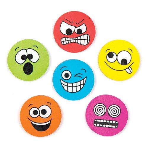 Set di cancelleria con gomme con faccine divertenti per bambini e bambine. Perfette per sacchetti regalo per feste di bambini (confezione da 12)