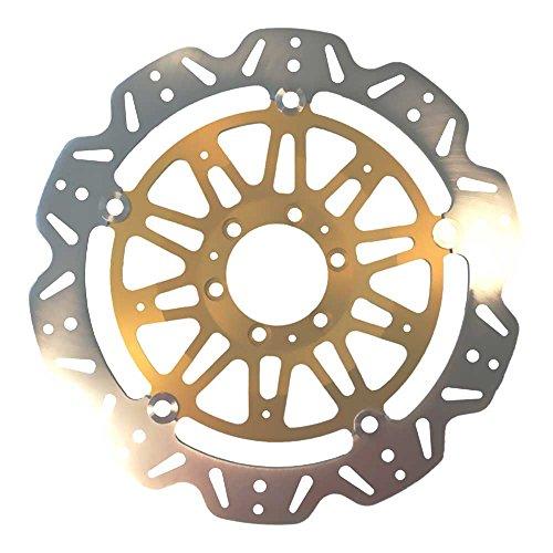 Preisvergleich Produktbild EBC Bremsscheiben INOX VEE-Rotor (eintragungsfrei mit ABE)<br>Ø=320mm / schwimmende Edelstahl Bremsscheibe mit goldener Alu-Nabe