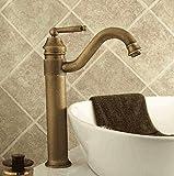 Retro Deluxe Faucetinging Wasserhahn Antiken Wasserhahn, Alle Kupfer Heißen Und Kalten Becken, Retro Waschbecken, Becken Top Tap, Drehbare Bronze Wasserhahn