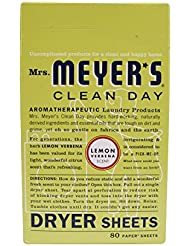 Mrs Meyer's Clean Day Dryer Sheet, 80 Count-LEMON DRYER SHEETS