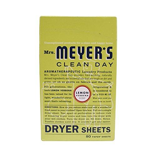 Mrs Meyer's Clean Day Dryer Sheet, 80 Count-LEMON DRYER SHEETS