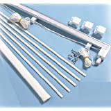 Roman blind kit 120cm - High Quality Metal Headrail with side cord operation - sufficient cord for 240cm drop
