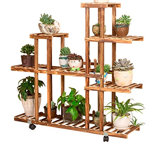 Wydm fioriera verticale cornice vegetale fioriera in legno con ruota pianta fioriera balcone decorazione giardino cornice 95x25x95cm
