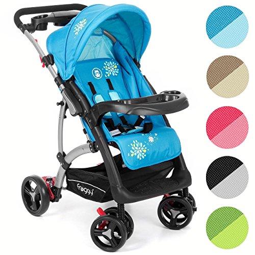 Kinderwagen RANGER S4 Froggy Buggy City Jogger Sportwagen Babywagen Sitzbuggy Liegebuggy 5-Punkt Sicherheitsgurt Blau