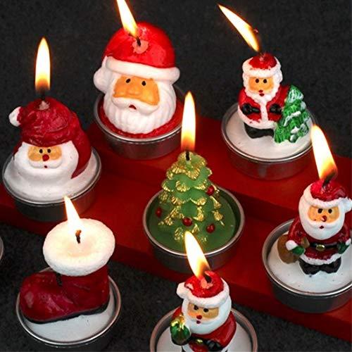 JINYANG Kerze Weihnachtsmann Weihnachtskerze für Dekoration Party Decor Silvester Dekoration Lieferungen, zufällige Art Lieferung