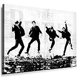 Bild auf Leinwand Beatles Lennon - Bild 100 x 70cm ! Bild fertig auf Keilrahmen - Pop Art Gemälde Kunstdrucke, Wandbilder - Bilder zur Dekoration - Deko. Musik Stars Kunstdrucke