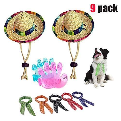 Running Pet Hunde Sombrero Hat Hunde Sun Hat Mexikanischen Party Hüte für Hunde Hat für Hunde und Katzen Funny Hund Kostüm, Normal, Cotton Rope (Katze In Den Hut-partei-zubehör)