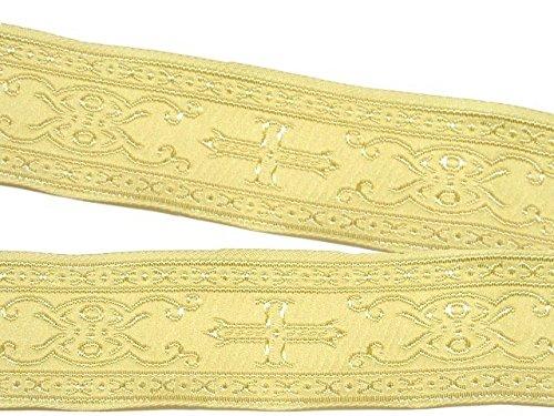 10m Kreuz Borte Webband 35mm breit Farbe: Beige von 1A-Kurzwaren SM05-bei-35 (Borte Kreuz)