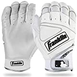 Franklin Sports MLB Powerstrap Batting Handschuhe, Herren, Pearl/White