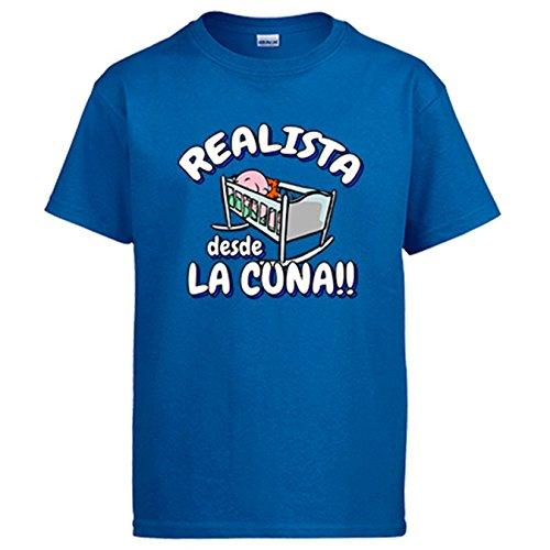 Camiseta Realista desde la cuna Real Sociedad fútbol - Azul Royal, M