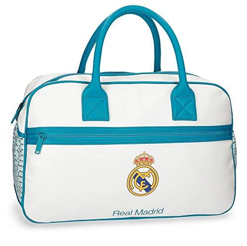 Real Madrid 5373561 RM Leyenda Bolsa de Viaje, 49 cm, 29.79 litros, Blanco