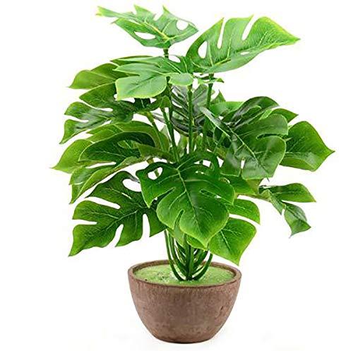 TQ 1 Bouquet / 18 Blätter Kunstseide Palm Monstera Leaves Plant für Hawaii Partydekorationen Strand Hochzeit Tischdekoration