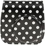 Phenovo PU Leather Carry Bag Pouch Bag With Shoulder Strap For Fujifilm Polaroid Mini 8 8+ 9 (Black)