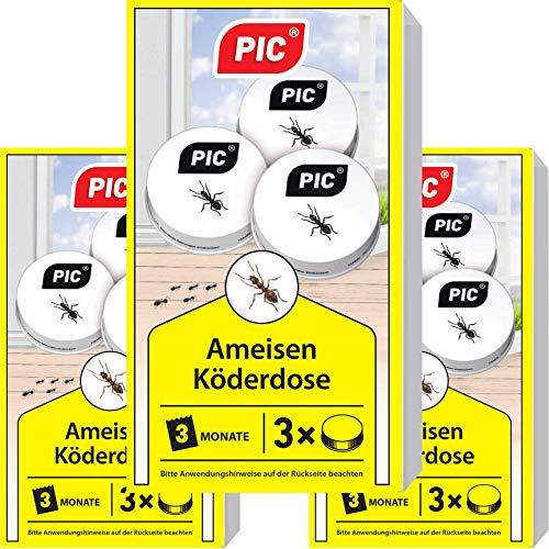 PIC - Ameisenfalle, Ameisenköderdose - 3x3 = 9 Dosen - Bekämpft Das Ganze Ameisennest - Outdoor-ant-traps