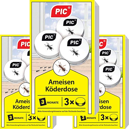 PIC - Ameisenfalle, Ameisenköderdose - 3x3 =