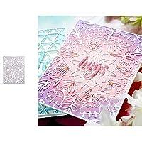 wiFndTu Cutting Dies, Flower Background Metal Cutting Dies DIY Scrapbooking Emboss Paper Cards Stencil - Silver