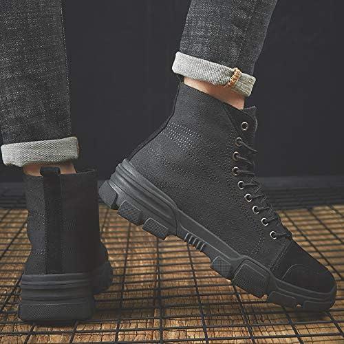 LOVDRAM Stivali da da da Uomo High-Top scarpe Uomo Canvas Nero Scarpe Casual Stivaletti Aumentato Martin Stivali Uomo, 42, Nero B07K4975V7 Parent   Clienti In Primo Luogo    Eccellente  Qualità  db02ef