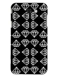 Samsung J3 2017 Back Cover - I Love Diamonds - Hard Shell Back Case