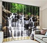 H&M Gardinen Vorhang Wasser fällt EIN Schatten Tuch UV warme Hauptdekoration Fenstervorhänge fertig 3D-Druck, Wide 2.03x high 2.41