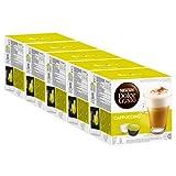 Nescafé Dolce Gusto Cappuccino, Kaffee, Kaffekapsel, 5er Pack 5 x 16 Kapseln (40 Portionen)