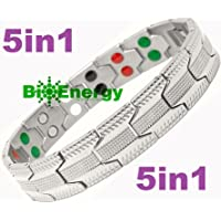Titanium Magnetic Energy Germanium Armband Power Bracelet Health Bio 5in1 Bio 255