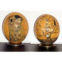 UOVA DI STRUZZO DECORATE con motivo Klimt- Kiss & Life tree