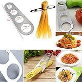 JJ PRIME Misuratore per Spaghetti a 4 Fori, in Acciaio Inox, da Cucina, principiante, Professionale, Chef Italiano, Inossidabile, Argento, Small