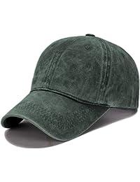 Roffatide Unisex Lavato Cotone Berretto da Baseball Vintage Regolabile  Cappello da Sole con Visiera 78d4fafdd937