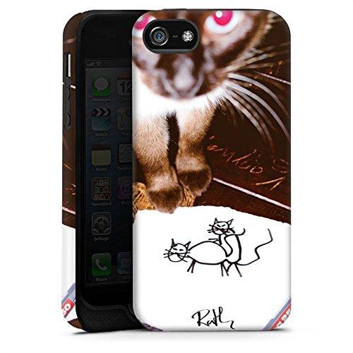 Apple iPhone X Silikon Hülle Case Schutzhülle Oliver Rath Katze Kitty Tough Case matt