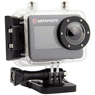 Agfa 8436533838735 Wasserdichte Actionkamera (50 m) mit Full HD 1080P Video und 170 Grad Weitwinkelobjektiv schwarz