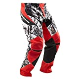Tenn Mens Rage MX/DH/BMX Off Road Race Cycling Pants - Red - XL