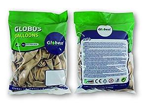 Globest- Globos de látex decoración, Color oro (Festival 50781)