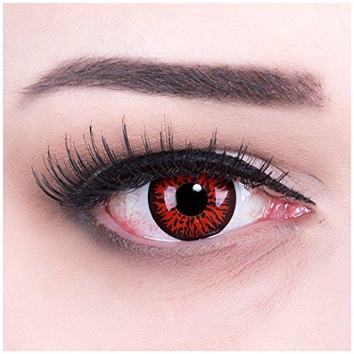 ed Demon Kontaktlinsen mit Behälter ohne Stärke, 1er Pack (1 x 2 Stück) (Twilight Kontaktlinsen)