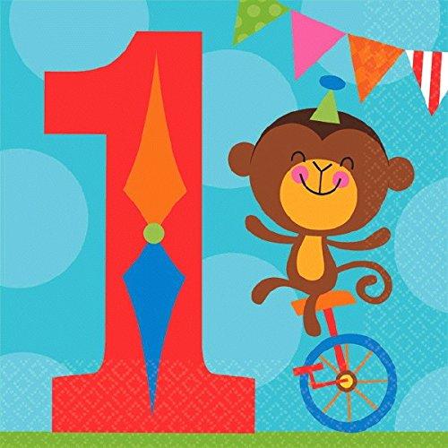 mattel-fisher-price-circus-1-compleanno-tovaglioli-16-ct