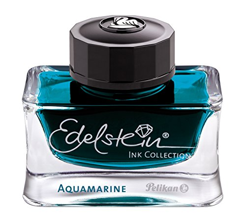 Pelikan Fine-Writing 4012700300027 Edelstein Ink of the Year 2016, Glas 50 ml, aquamarine/petrol