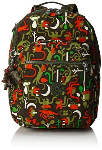 Kipling - CLAS SEOUL - Grand sac à dos - Monkey Frnds Kh - (Multi-couleur)