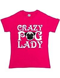 Fancy A Snuggle Crazy Pug Lady Woof Love Pugs Womens T-Shirt