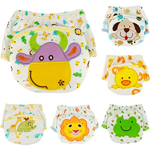 Ateid 6 Pack Baby Boy Cotton Potty Training Pants, 2-3 years