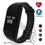 fitpolo Fitness Armband, Wasserdicht IP67 Fitness Tracker,Schrittzähler,Pulsuhren,Kalorienzähler, Schlaf Monitor,Smart Armbanduhr für Kinder,Damen und Herren