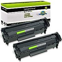 خرطوشة حبر بديلة من 2 PK من greencycle متوافقة مع طابعة HP 12A Q2612A (أسود) ليزر جيت 1010 1012 1018 1020