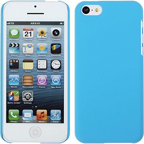 PhoneNatic Case für Apple iPhone 5c Hülle hellblau gummiert Hard-case für iPhone 5c + 2 Schutzfolien