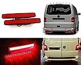 2x Transporter T5 2003-10 Multivan Red Lens Heckstoßstange Reflektor LED Heckbremslicht