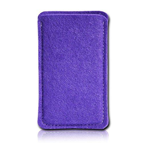 Filz Style Apple iPhone 6 / 6S Premium Filz Handy Tasche Hülle Etui passgenau für Apple iPhone 6 / 6S - Farbe rosa lila