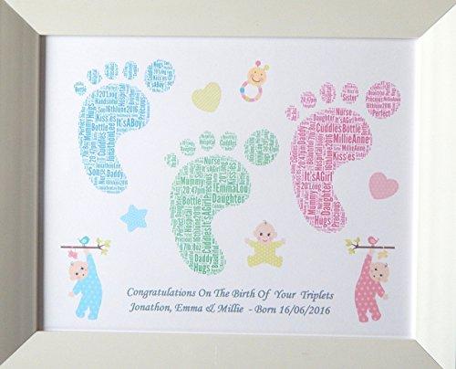 belle-naissance-personnalisee-de-bebe-de-bebe-de-jumeaux-ou-dart-de-mot-dempreinte-de-triplets-prese
